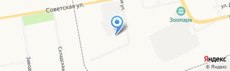 Универсал на карте Абакана