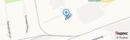Омега на карте Абакана