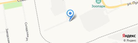 Берлога на карте Абакана