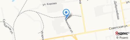 Сибстрой на карте Абакана