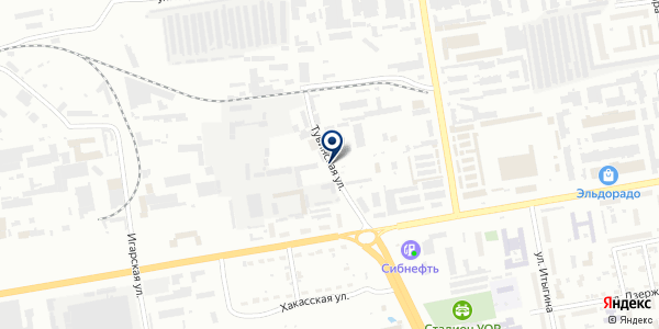 Установочный центр на Тувинской на карте Абакане