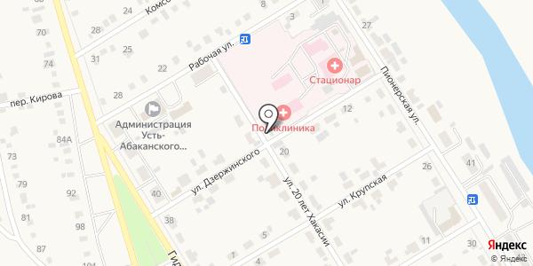 Продуктовый магазин. Схема проезда в Усть-Абакане