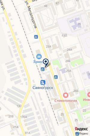 АЗС на карте Саяногорска