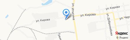 Гамма на карте Абакана