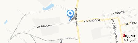 Агбан на карте Абакана