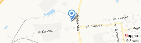 Хозлайн на карте Абакана