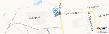 Шиномонтажная мастерская на ул. Кирова на карте Абакана