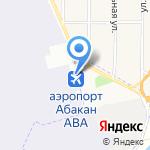 Аэропорт Абакан на карте Абакана
