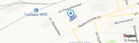 Локомотив на карте Абакана