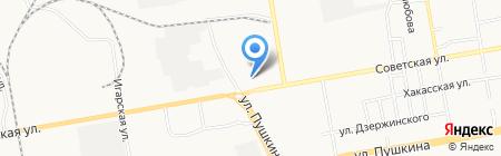 Производственная компания на карте Абакана