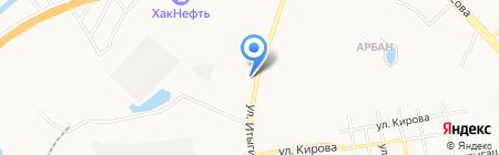 Автообувь на карте Абакана