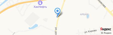 АГЗС Пропан-бутаныч на карте Абакана