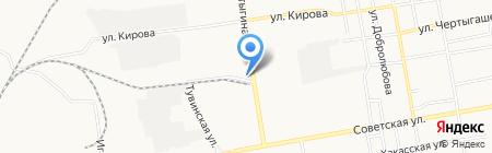 Транзит на карте Абакана