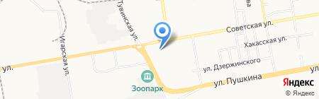 Автостиль на карте Абакана