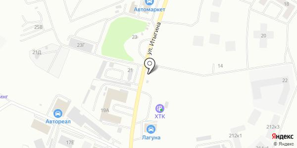 Автосервис на ул. Итыгина. Схема проезда в Абакане