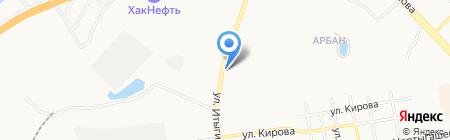 Автосервис на ул. Итыгина на карте Абакана