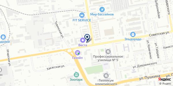 Салон-магазин хозяйственных товаров для дома и дачи на карте Абакане