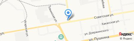 Арком на карте Абакана
