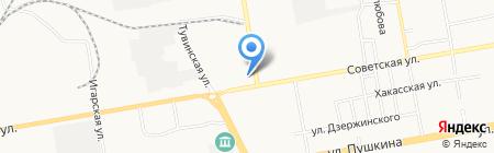Магазин спецодежды на карте Абакана