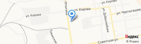 Магазин запчастей для американских грузовиков на ул. Итыгина на карте Абакана