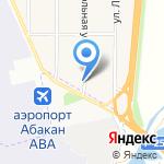 Раздолье на карте Абакана