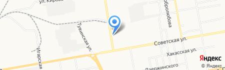 Котопес на карте Абакана