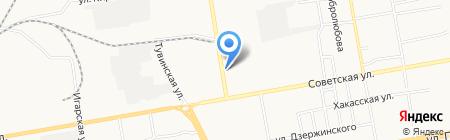 Огни Абакана на карте Абакана