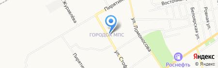 Шиномонтаж на ул. Стофато на карте Абакана
