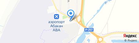 Кантегир на карте Абакана