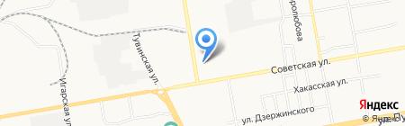 Текстиль-Уют на карте Абакана