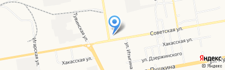 Ресанта на карте Абакана