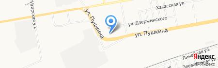 СГА на карте Абакана