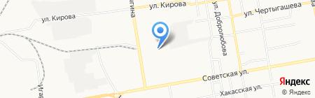 Брайт на карте Абакана