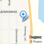 Калининская средняя общеобразовательная школа на карте Абакана