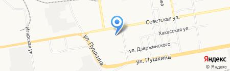 Техникум коммунального хозяйства и сервиса на карте Абакана