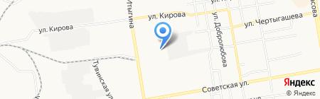 Дом посуды на карте Абакана