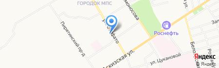 Магазин продуктов на ул. Стофато на карте Абакана