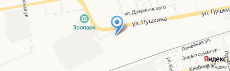 Авто эмали на карте Абакана