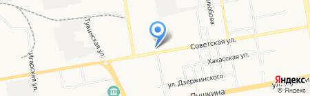 Самурай на карте Абакана