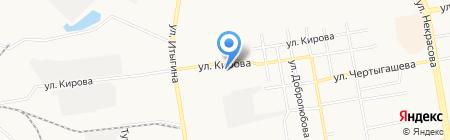 Аура на карте Абакана