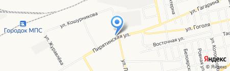 Магазин разливного пива на ул. Ломоносова на карте Абакана