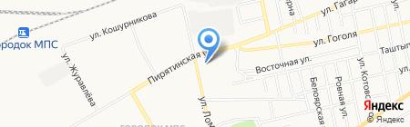 Автомойка на ул. Гагарина на карте Абакана