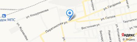 Шиномонтажная мастерская на ул. Гагарина на карте Абакана