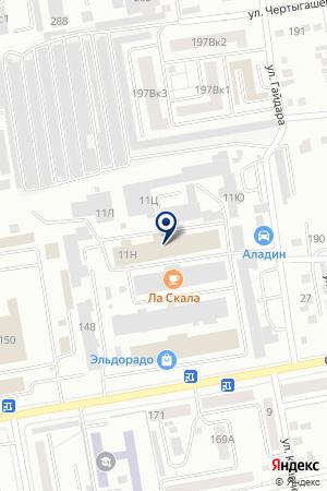 Барс на карте Абакана