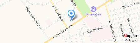 Шахтинская плитка на карте Абакана