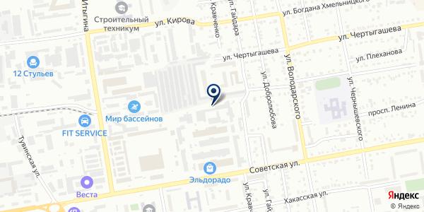 СибТехноСтрой на карте Абакане