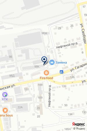 Служба эвакуации на карте Абакана