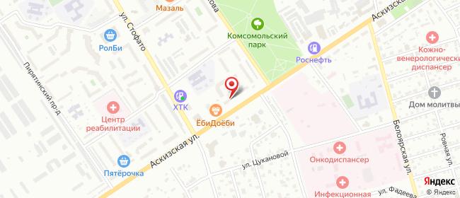Карта расположения пункта доставки Абакан Аскизская в городе Абакан