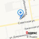 Красноярская мебельная компания на карте Абакана