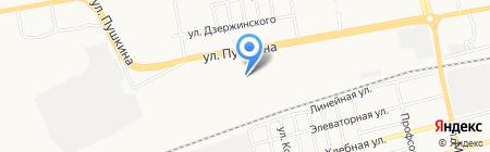 Колос Сибири на карте Абакана